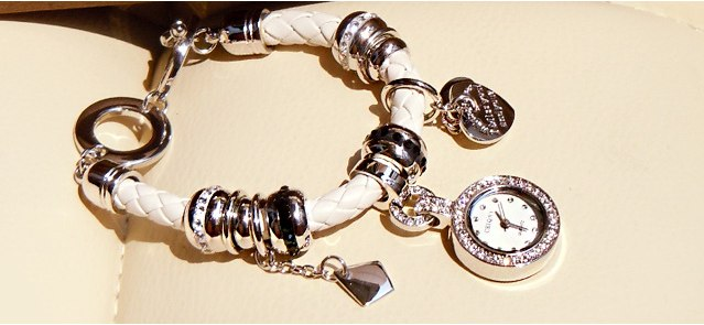 Часы и браслеты в стиле пандора