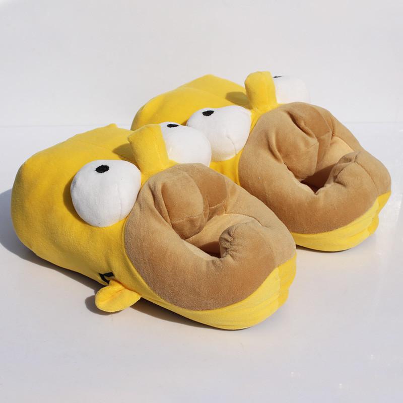 Тапочки Симпсоны не оставят никого равнодушным, выполнены в виде головы Гом