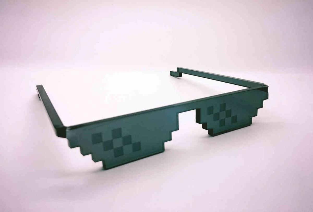 Как сделать на пиксельные очки