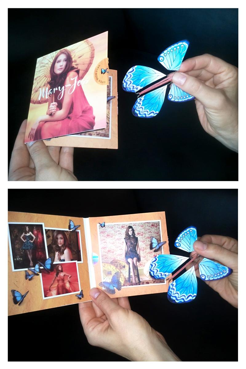 Открытка с летающей бабочкой внутри своими руками, добрым утром девушке