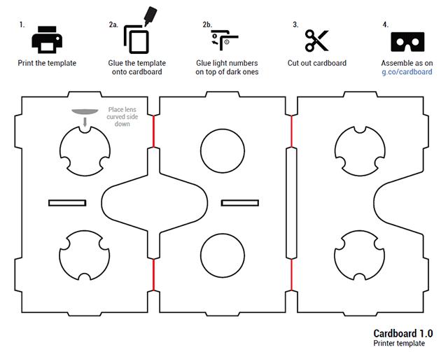 Схема очков виртуальной реальности из картона | форум | 3d-vr.